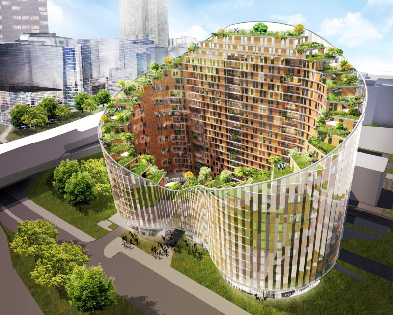 Design for innovative green apartment building